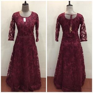 Lace gown!